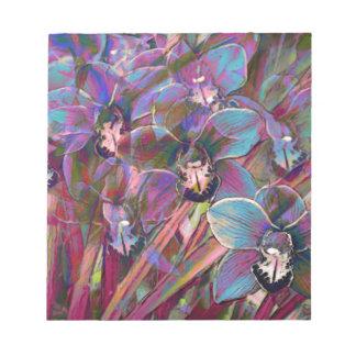 Cymbidium Orchid Carnival Notepad