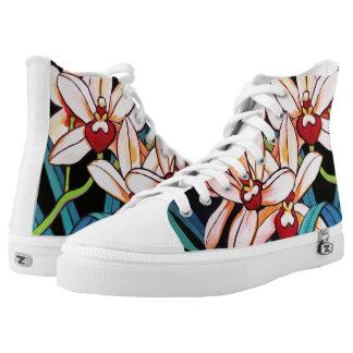 Cymbidium Orchid Hawaiian Floral Printed Shoes