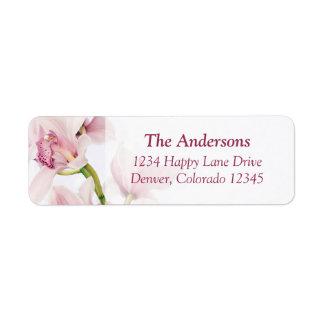 Cymbidium Orchid Wedding Return Address Labels