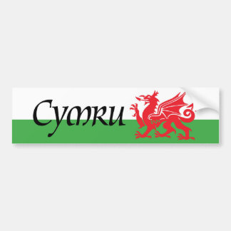 Cymru Wales Flag Bumper Sticker Car Bumper Sticker