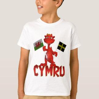 Cymru Welsh T Shirt, Welsh Flag & St. David's Flag T-Shirt