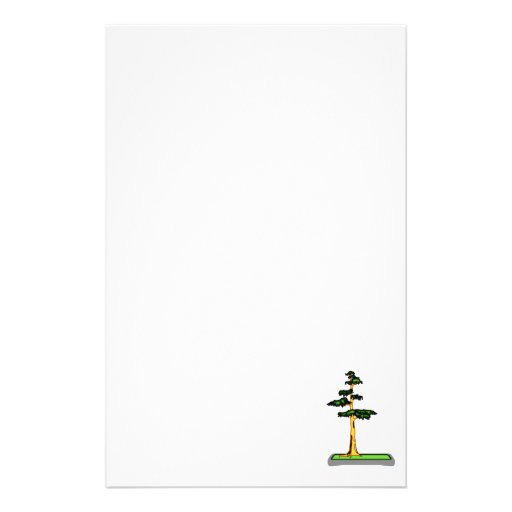 Cypress Bonsai in Tray Graphic Image Customized Stationery