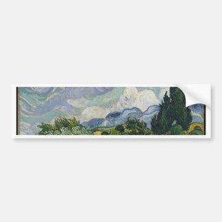 Cypress Grove and Wheat Field Bumper Sticker