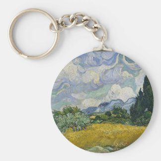 Cypress Grove and Wheat Field Key Ring