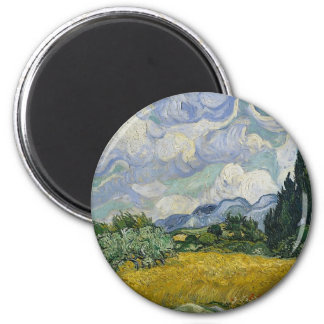 Cypress Grove and Wheat Field Magnet