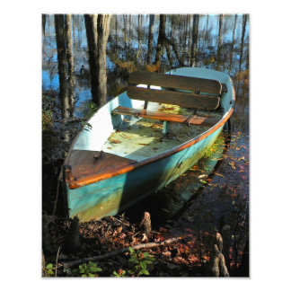 Cypress Rowboat in Autumn Print Photographic Print