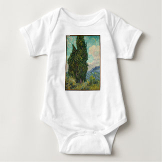 Cypress Tree at Night Baby Bodysuit