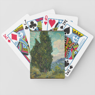 Cypress Tree at Night Bicycle Playing Cards