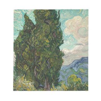 Cypress Tree at Night Notepad