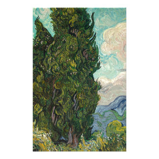 Cypress Tree at Night Stationery