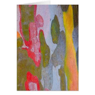 Cypress tree bark patterns, Italy Card