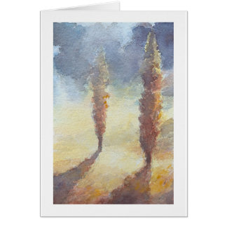 Cypress Trees Card