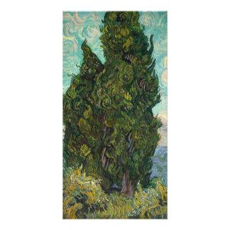 Cypresses by Vincent Van Gogh Custom Photo Card