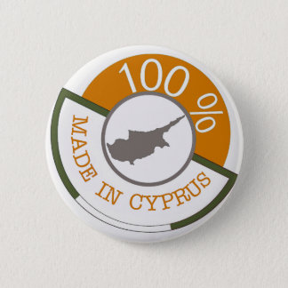 CYPRUS 100% CREST 6 CM ROUND BADGE