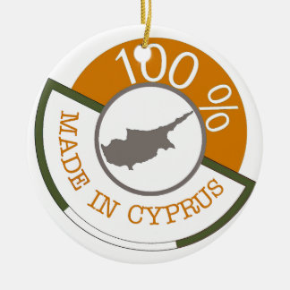 CYPRUS 100% CREST CERAMIC ORNAMENT