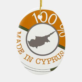 CYPRUS 100% CREST CERAMIC ORNAMENT
