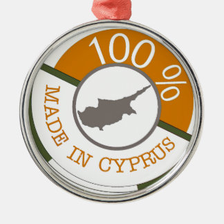 CYPRUS 100% CREST METAL ORNAMENT