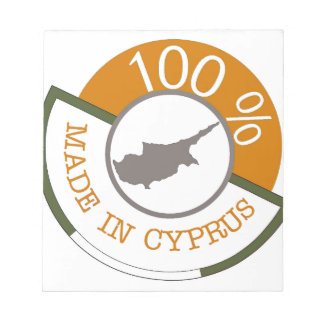 CYPRUS 100% CREST NOTEPAD