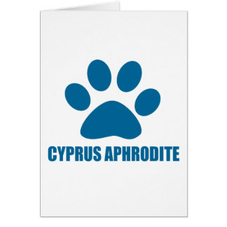CYPRUS APHRODITE CAT DESIGNS CARD