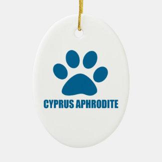 CYPRUS APHRODITE CAT DESIGNS CERAMIC ORNAMENT