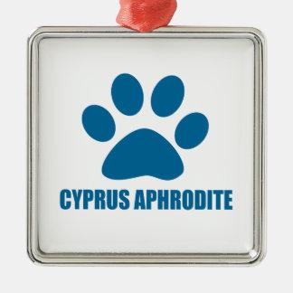 CYPRUS APHRODITE CAT DESIGNS METAL ORNAMENT