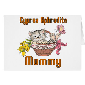 Cyprus Aphrodite Cat Mom Card