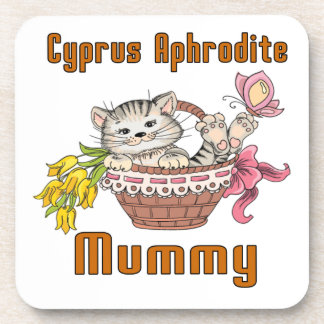 Cyprus Aphrodite Cat Mom Coaster