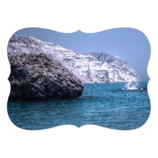 Cyprus Coast 13 Cm X 18 Cm Invitation Card