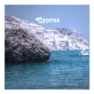 "Cyprus Coast 5.25"" Square Invitation Card"