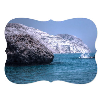 "Cyprus Coast 5"" X 7"" Invitation Card"
