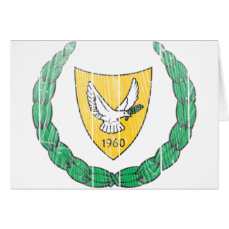Cyprus Coat Of Arms Card