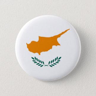 Cyprus country flag symbol long 6 cm round badge