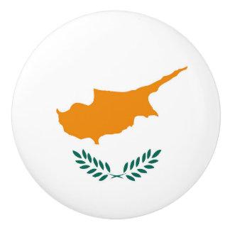 Cyprus country flag symbol long ceramic knob
