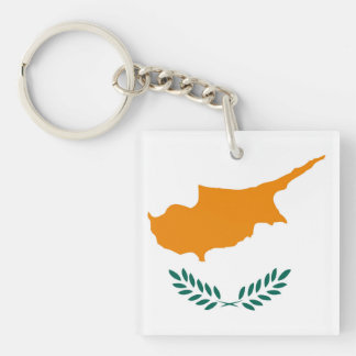 Cyprus country flag symbol long key ring