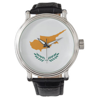 Cyprus country flag symbol long watch