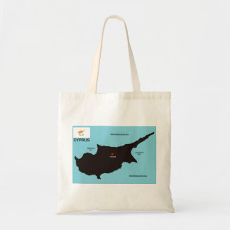 Cyprus country political map flag bag