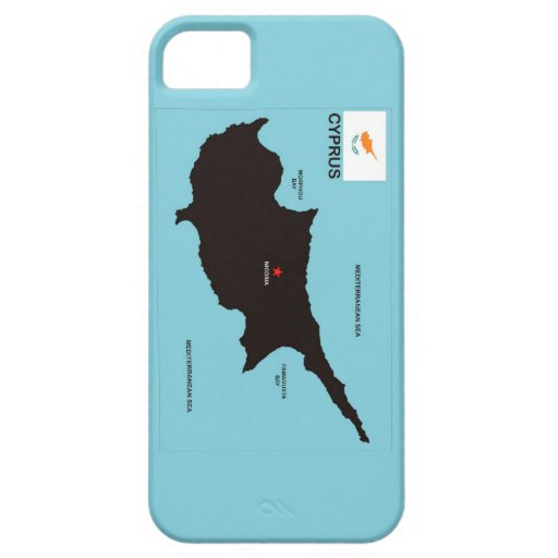 Cyprus country political map flag iPhone 5 cases