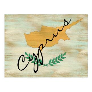 Cyprus distressed Cypriot flag Postcard