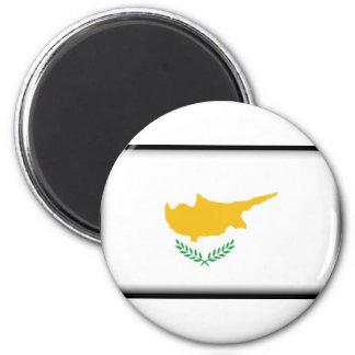 Cyprus Flag 6 Cm Round Magnet