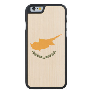 Cyprus Flag Carved Maple iPhone 6 Case