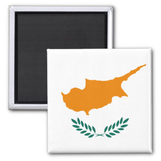 Cyprus Flag CY Square Magnet