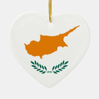 Cyprus Flag Heart Ornament