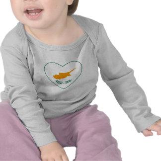 Cyprus Flag Heart T-Shirt