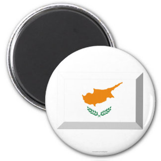 Cyprus Flag Jewel 6 Cm Round Magnet