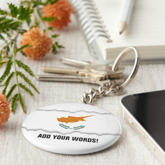 Cyprus Flag Key Ring