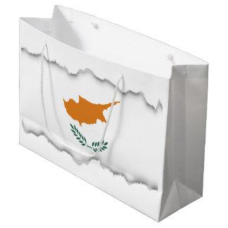 Cyprus Flag Large Gift Bag