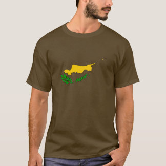 Cyprus flag map T-Shirt