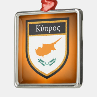 Cyprus Flag Metal Ornament