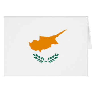 Cyprus Flag Notecard Note Card