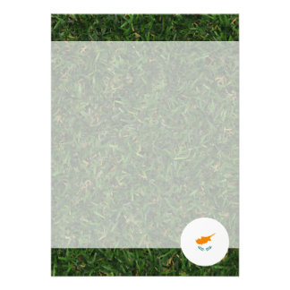 Cyprus Flag on Grass 13 Cm X 18 Cm Invitation Card
